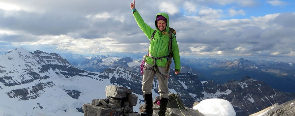 claire wilkinson on mt. lefroy